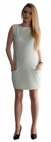 Tehotenské letné šaty s vreckami - mäta empty c7d3740a47c