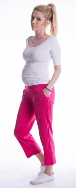 Tehotenské 7/8 bedrové nohavice - amarant-L (40)