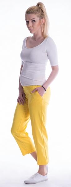 Tehotenské nohavice 7/8 bedrové - žlté