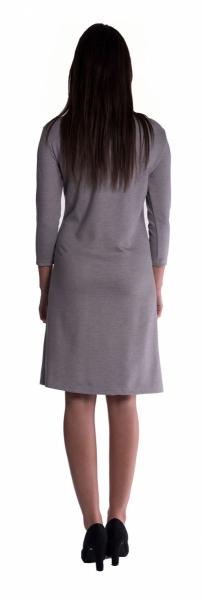Tehotenské šaty - sivé