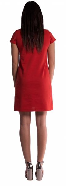 Tehotenské šaty - amarant