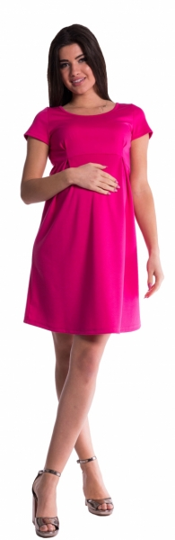 Tehotenské šaty - amarant-S (36)