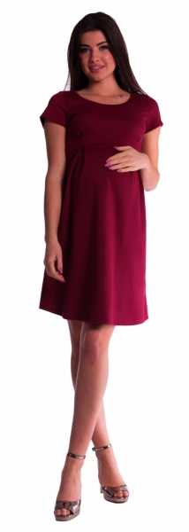 Tehotenské šaty - bordó-S (36)