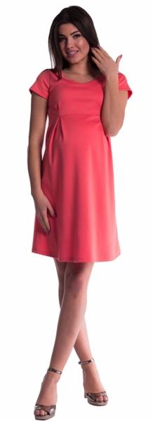 Tehotenské šaty - koral-S (36)