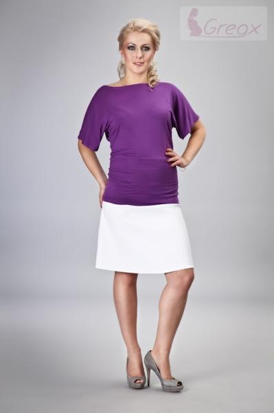 Elegantná tehotenská sukňa ming - biela