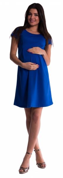 Tehotenské šaty - tm. modré veľ.L