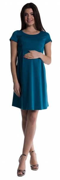 Tehotenské šaty - petrolej-S (36)