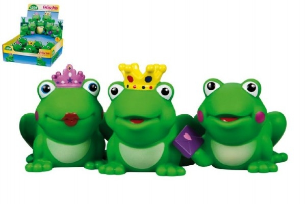 Teddies Striekacie zvieratká žaba - 1ks