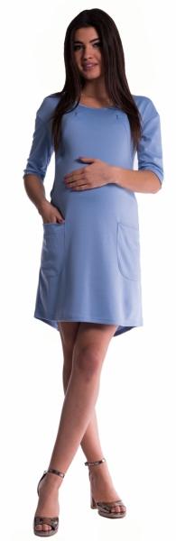 Tehotenské a dojčiace šaty - sv. modré