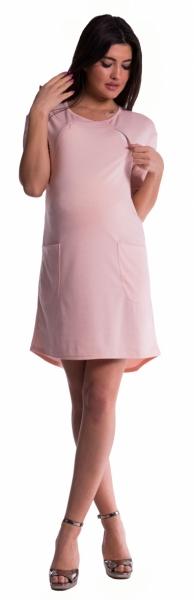 Tehotenské a dojčiace šaty - sv. modré veľ.S