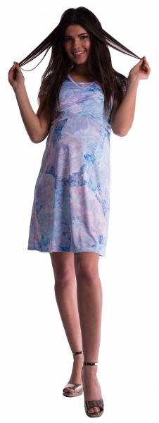 Be MaaMaa Tehotenské a dojčiace šaty - modré kvety