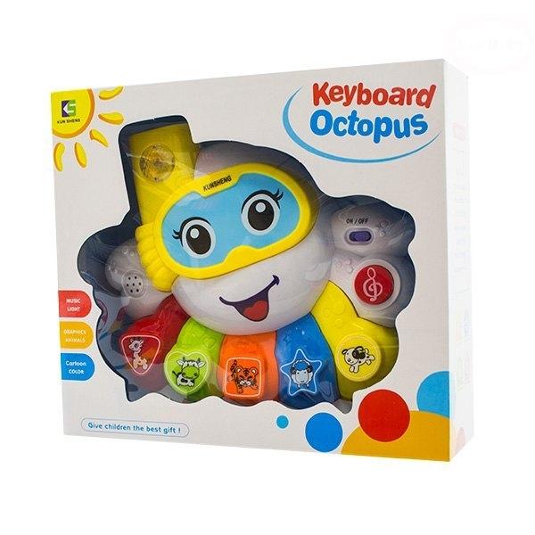 Euro Baby Interaktívna hračka s melódiou - Keyboard Chobotnice