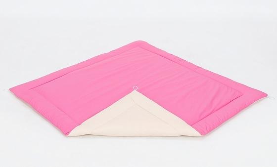 Mamo Tato Hracia, prebaľovacia podložka 120x120cm - ružová-béžová