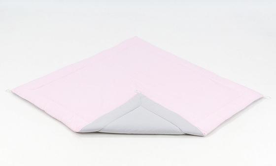 Hracia, prebaľovacia podložka 120x120cm - sv. ružová-šedá