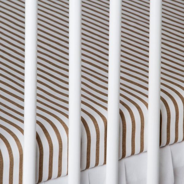 Bavlnené prestieradlo - prúžky béžové. Kod: 1370-212, 120x60