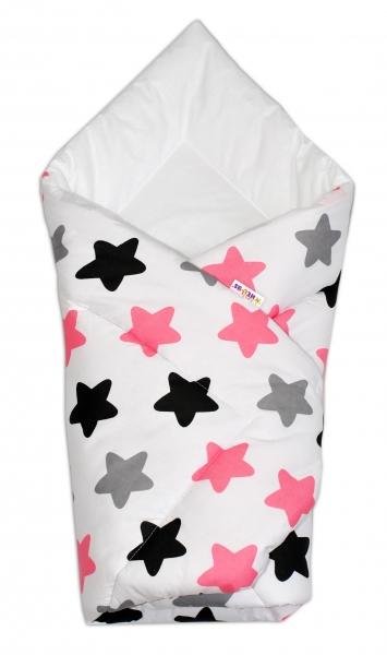 Zavinovačka KLASIK - Farebné hvezdičky - ružová, Klasické