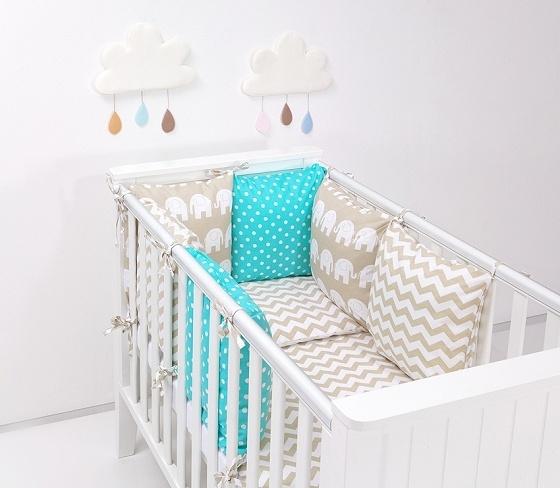 Mantinel s obliečkami Baby Nellys ® - vankúšikový mantinel vzor č. 31