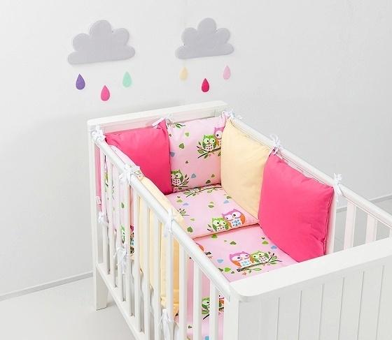 Mamo Tato Mantinel s obliečkami Baby Nellys ® - vankúšikový mantinel vzor č. 51-120x90