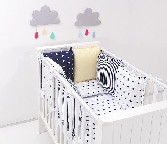 Mantinel s obliečkami Baby Nellys ® - vankúšikový mantinel vzor č. 26