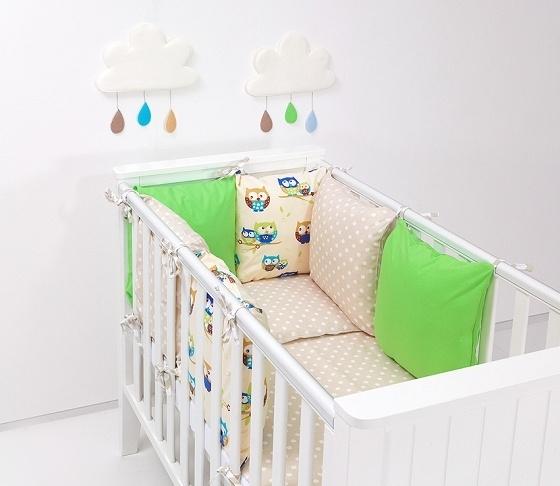 Mantinel s obliečkami Baby Nellys ® - vankúšikový mantinel vzor č. 34
