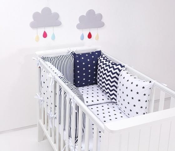 Mantinel s obliečkami Baby Nellys ® - vankúšikový mantinel vzor č. 39-135x100