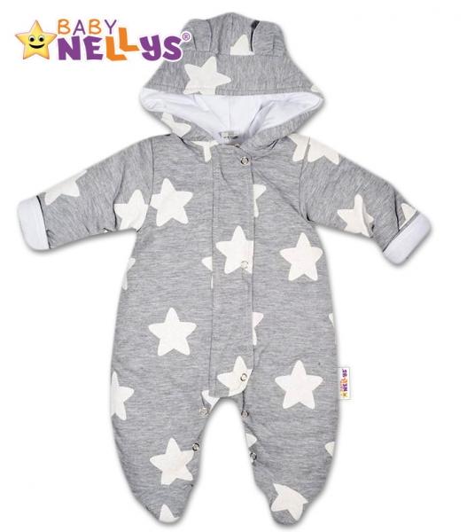Kombinézka s kapucňu a uškami Stars Baby Nellys ®, veľ. 74