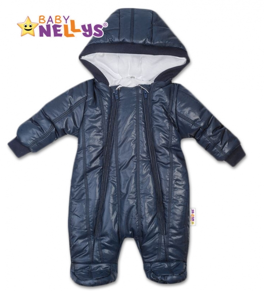 b37f9ef58 Kombinézka s kapucňu LUX Baby Nellys ®prošívaná - granát 68 empty
