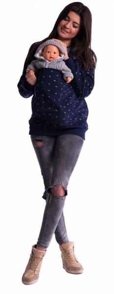 Tehotenská súprava 3 dielna s potlačou - sivá