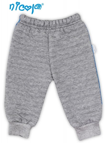 Tepláčky, nohavice NICOL TUČNIAK - šedá - 3D pruhy, veľ. 56