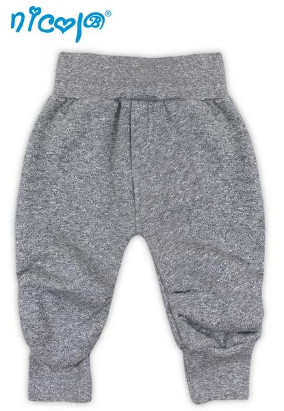 Tepláčky, nohavice SRDIEČKA - šedá-56 (1-2m)