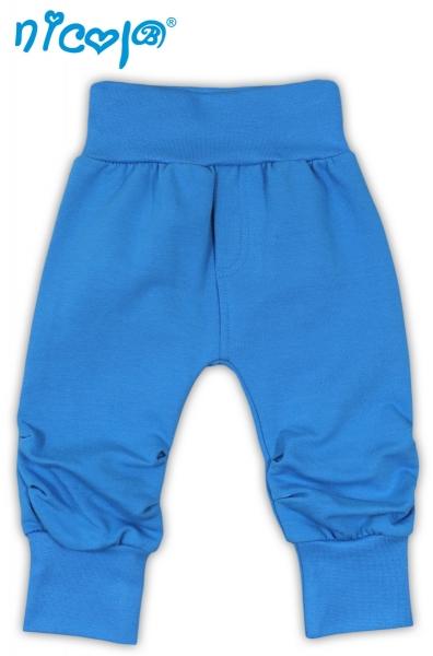 Tepláčky, nohavice TUČNIAK - tyrkysová-56 (1-2m)