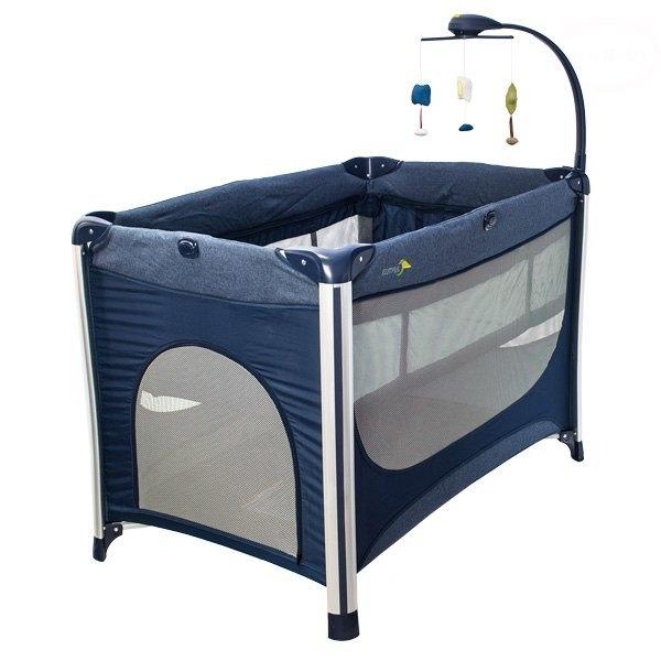 Euro Baby Detská cestovná postieľka RESTFUL - modrá