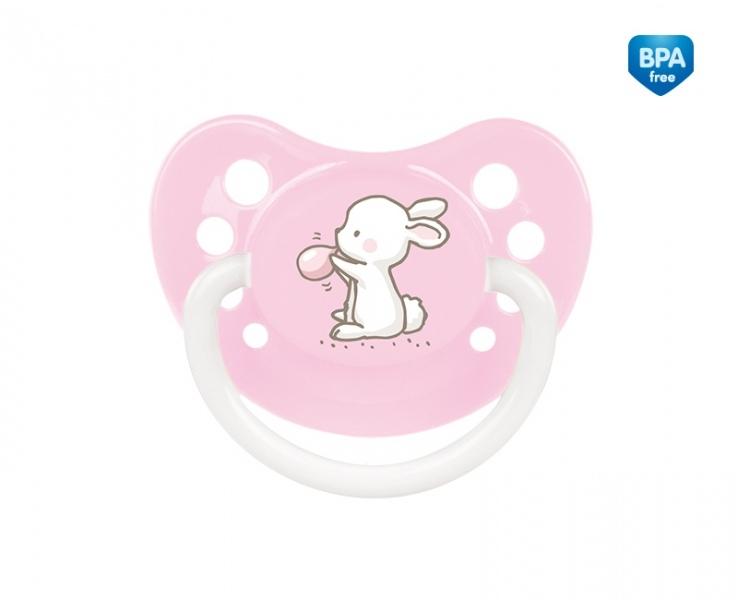 Cumlík anatomický, silikónový Canpol Babies 0-6m A, Little Cutie - sv. ružový
