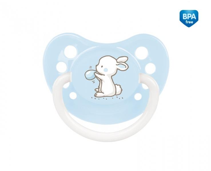 Cumlík anatomický Canpol Babies 6-18m B, Little Cutie - bledo modrý