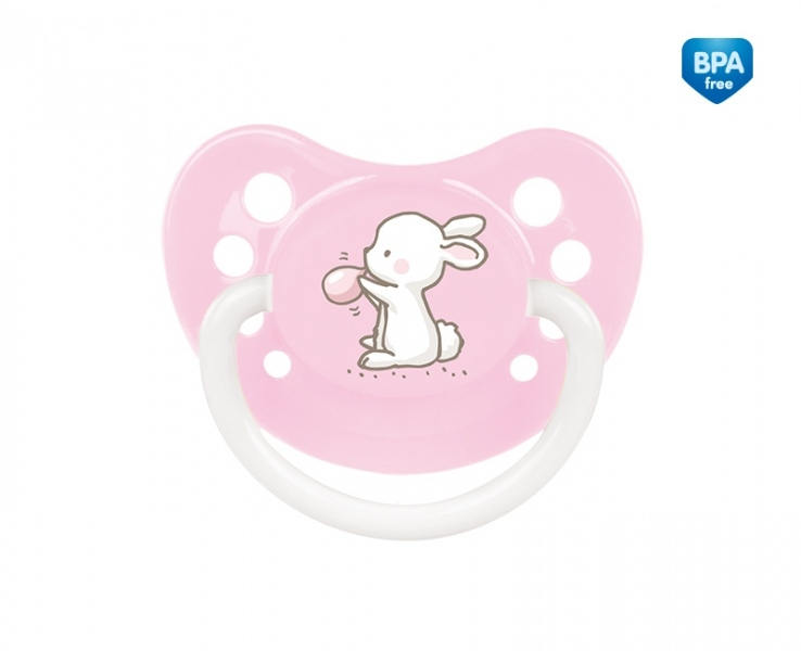 Cumlík anatomický Canpol Babies 18m+ C, Little Cutie - sv. ružový