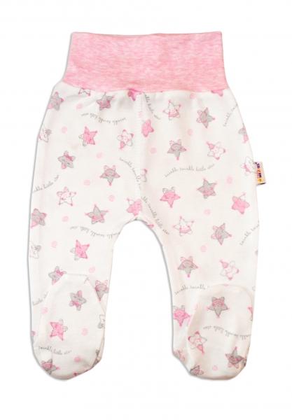 Polodupačky pre predčasne narodené bábätká Baby Nellys ®- Hvezdičky růžové-50 (0-1m)
