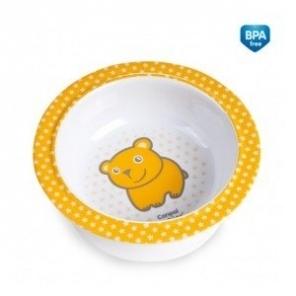 Melamínová miska s prísavkou Canpol Babies - Medvedík