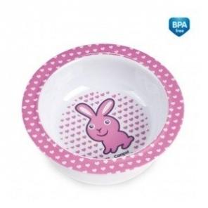Melamínová miska s prísavkou Canpol Babies - Zajačik