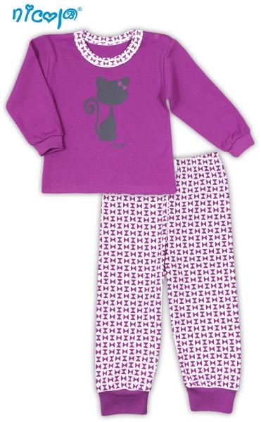 Bavlnené pyžamko NICOL KOČIČKA-92 (18-24m)