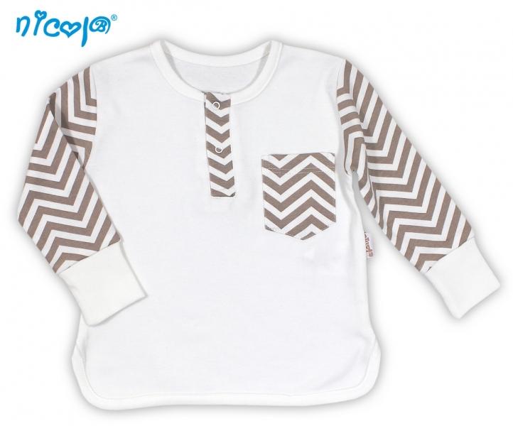 BIO dojčenské bavlnené tričko NICOL MACKO - dlhý rukáv, 56 (1-2m)