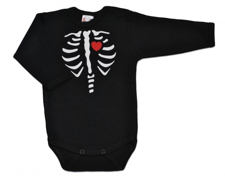 DEJNA Body dl. rukáv RED HEART - čierne, veľ. 68