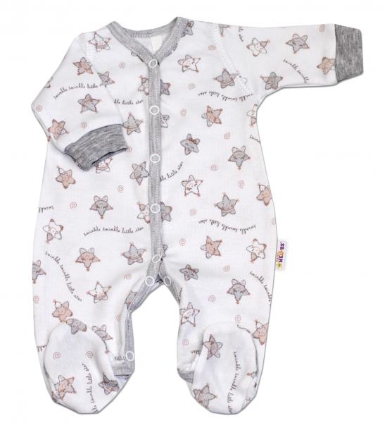 Overal pre predčasne narodené bábätká Baby Nellys ®- Hvezdičky šedé, 44