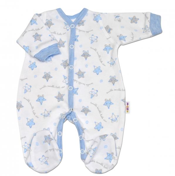 Overal pre predčasne narodené bábätká Baby Nellys ®- Hvezdičky modré