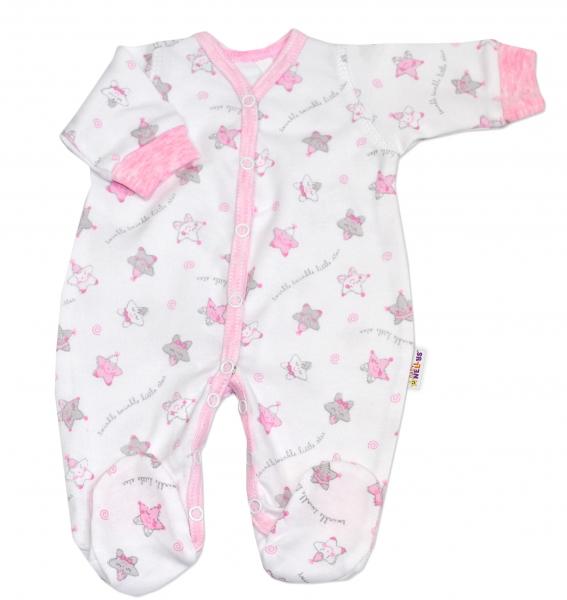 Overal pre predčasne narodené bábätká Baby Nellys ®- Hvezdičky růžové