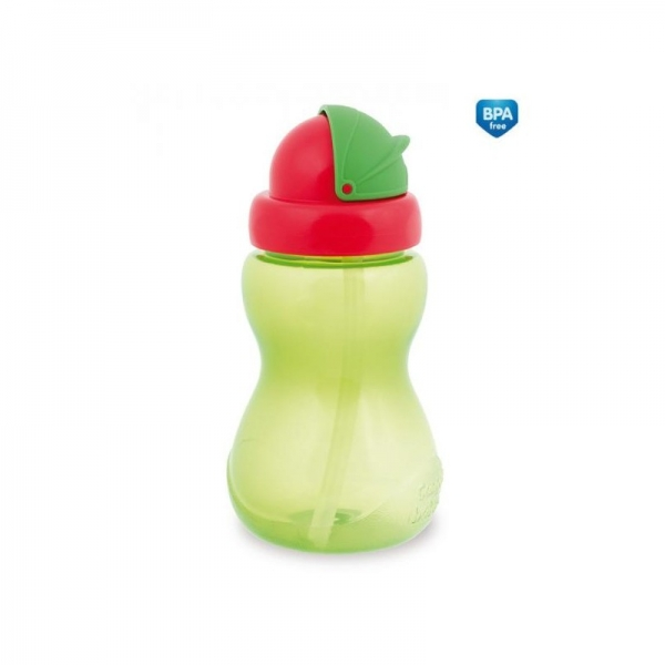 Športová  fľaša so slamkou Canpol Babies - zelená
