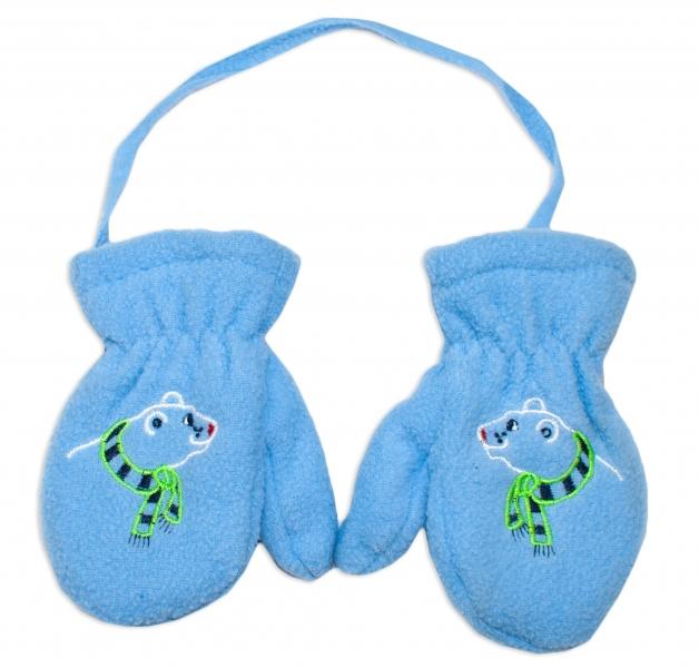 YO !  Zimné dojčenské polarové rukavice YO - sv. modré