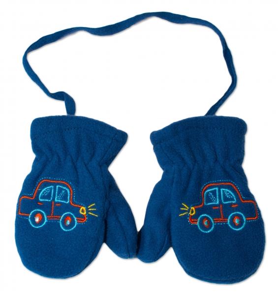 YO !  Zimné dojčenské polarové rukavice YO - tm. modré, veľ. 13-14cm-13-14cm rukavičky