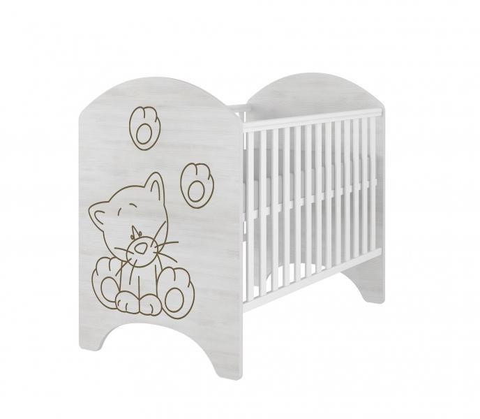 BabyBoo Dětská postieľka LUX s výřezom MAČIČKA - 120x60cm