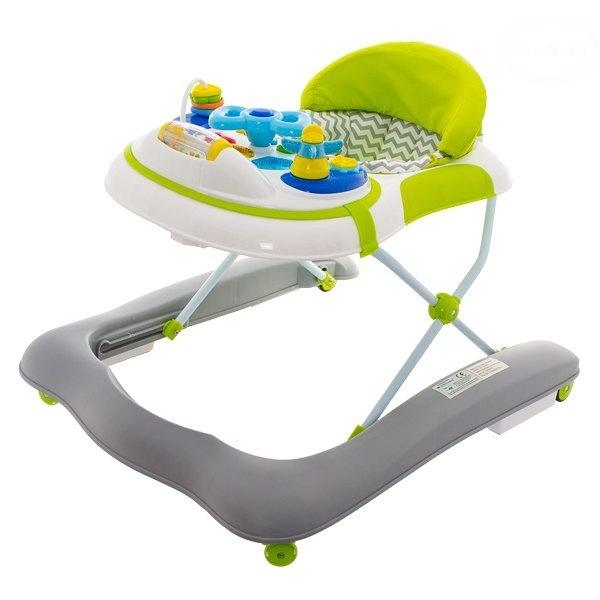 Euro Baby Multifunkčné chodítko - sivé/ zelené