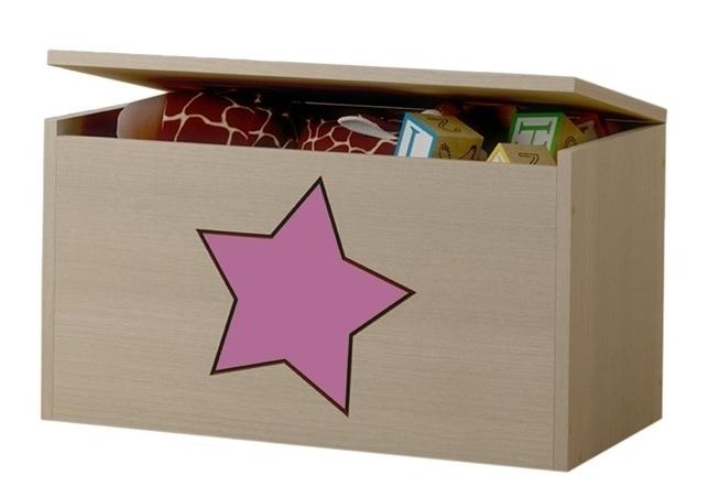 BabyBoo Box na hračky, truhlička Hviezda růžová ku kolekcii Žirafka